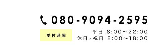 電話番号080-9094-2595